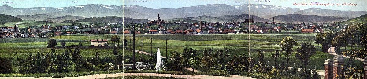 Trójczłonowa panorama z wydawnictwa Maxa Leipelta; bez obiegu.