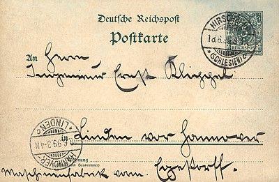 Przykład całostki; obieg: 18.06.1899.